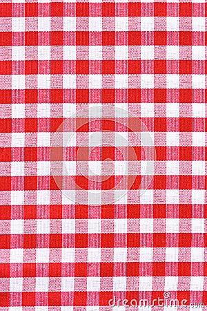 De stoffentextuur van het tafelkleed.