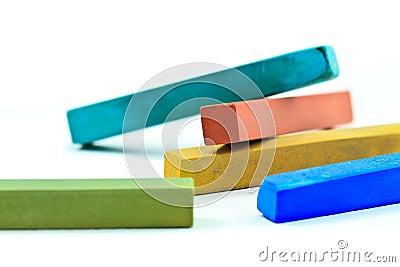 De stokken van de pastelkleur