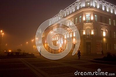 De straat van de avond
