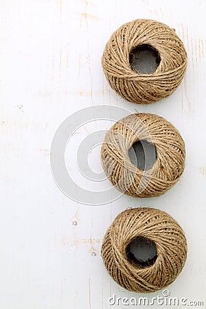 De streng van het linnen