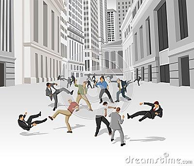 De strijd van de straat