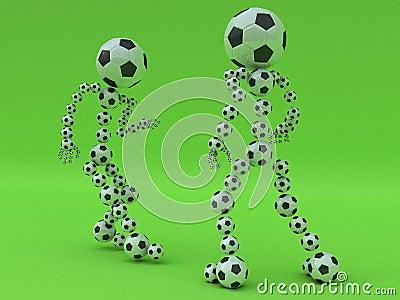 De strijd van de voetbal