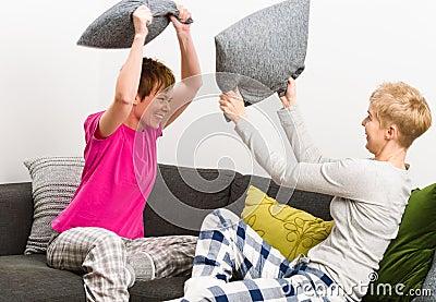 De strijd van het hoofdkussen
