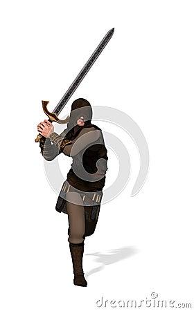 De strijder van de boswachter