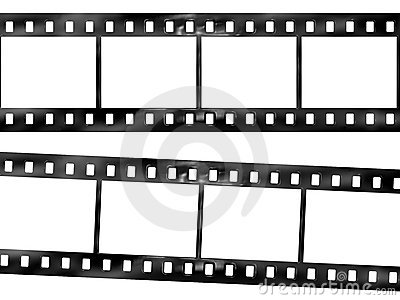De strook van de film