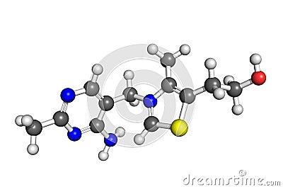 De structuur van de vitamine B1