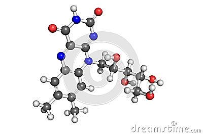 De structuur van de vitamine B2