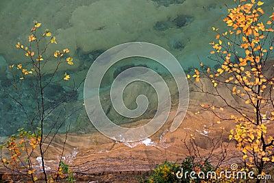 De Superieure oever van het meer