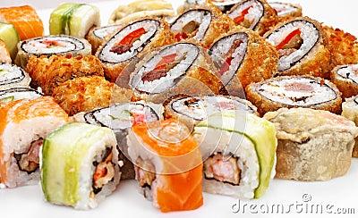 De sushi rollen grote reeks
