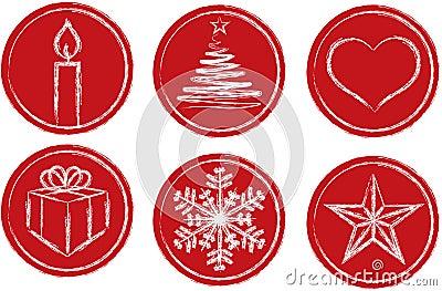 De symbolen van Chistmas