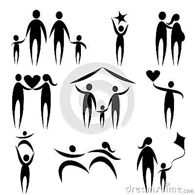 De symbolen van de familie