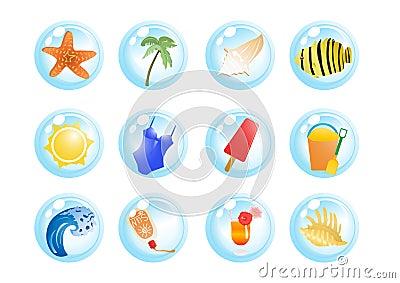 De symbolen van de vakantie