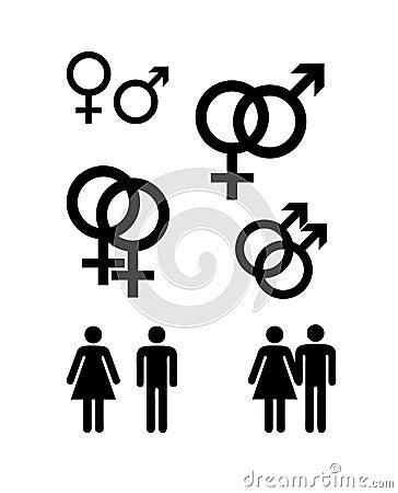 De symbolen van het geslacht