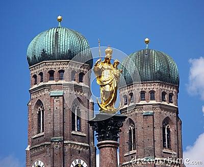 De symbolen van München, Duitsland