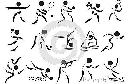 De symbolen van spelen