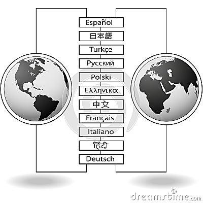 De taal oost-west vertalingen van de wereld