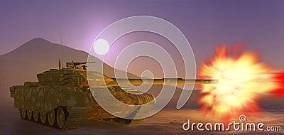 De tank van het leger.