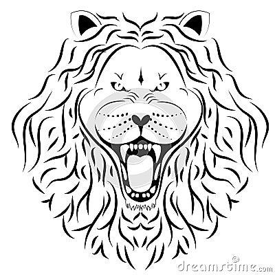 De tatoegering van de leeuw