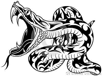 De Tatoegering van de slang