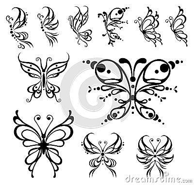 De tatoegering van de vlinder.