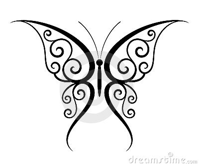 De tatoegering van de vlinder