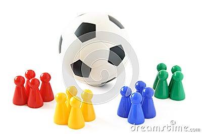 De Teams van het voetbal