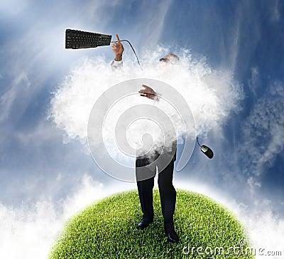 De technologie van de wolk