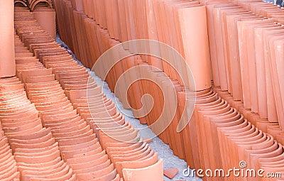 De Tegel van het terracotta