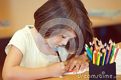 De tekening van het kind