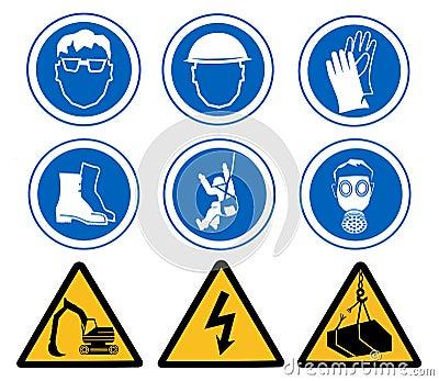 De tekens van de gezondheid en van de Veiligheid