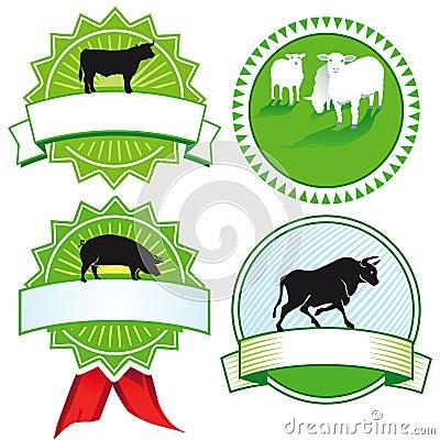 De tekens van het landbouwbedrijfdier