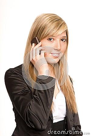 De telefoon van de vrouw