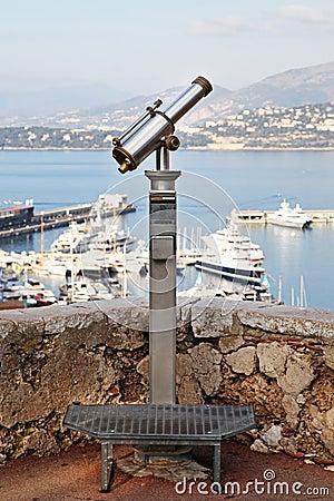 De telescoop van Turist