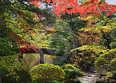 De tempeltuin van Rinoji