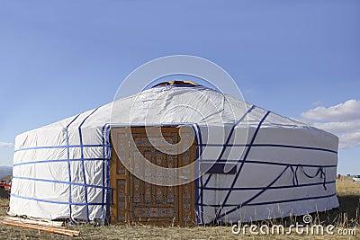 De tent van de feestelijke nomade