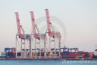 De terminal van de container