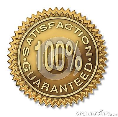 De tevredenheid waarborgde 100  gouden zegel