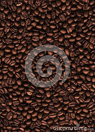 De textuur van de koffie