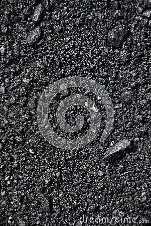 De textuur van het asfalt