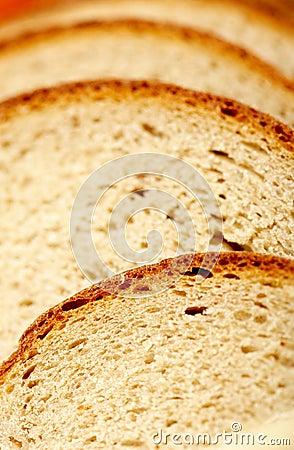 De textuur van het brood