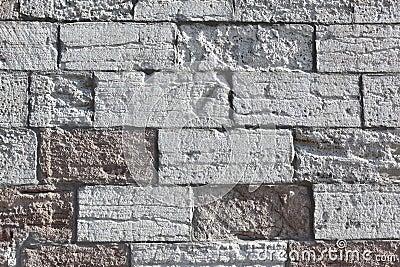 De textuur van het metselwerk