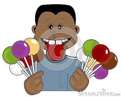 De Tiener van het suikergoed