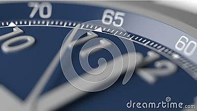 De tijd stelt uit extreme close-up in werking stock footage