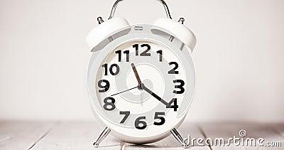 De Tijdspanne van de kloktijd stock video