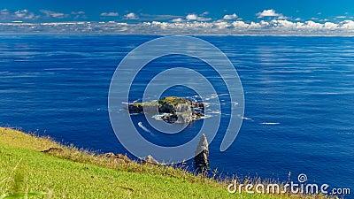 De tijdspanne van de de eilandjestijd van Tangatamatu in Rapa Nui stock videobeelden