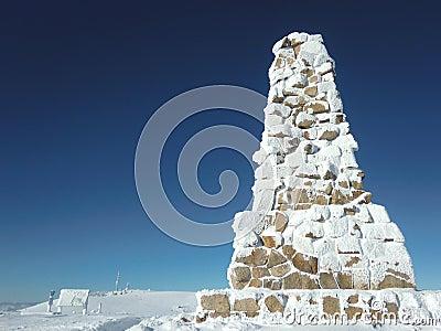 De top van Felberg - Gedenkteken Bismark