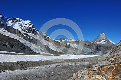 De top van Matterhorn