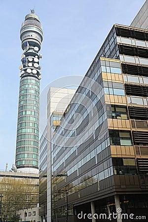 De Toren van BT (de Toren van het Postkantoor van aka, de Toren van Telecommunicatie)