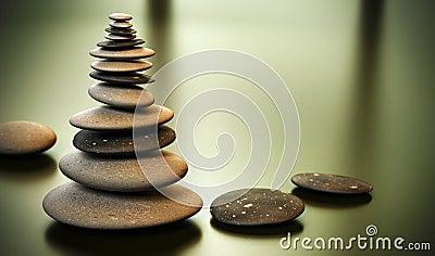 De toren van de kiezelsteen - de stapel van Kiezelstenen
