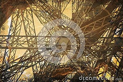 De Toren van Eiffel van Grunge